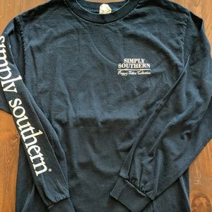 Simply Southern Navy Long Sleeve Tee, Size S